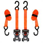 Sangles d'arrimage avec roue à rochet SmartStraps RatchetXde 10 pi– Paquet de2 (orange) –Résistance à la rupture de 3 000 lb
