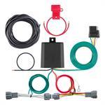 Faisceau de câblage sur mesure Curt 56418 (sortie à prise plate de4 pôles) pour certains Nissan Kicks