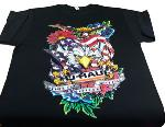 T-shirt aigle noir