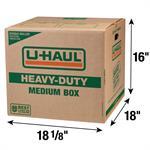 Boîte moyenne de déménagement à double paroi et robuste 181/8 po x 18 po x 16 po